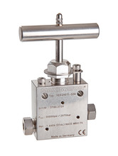 High Pressure Valves for Sour Gas Applications 30000 psi, 2070 bar, 2-way straight valves, 2-way Angle valves