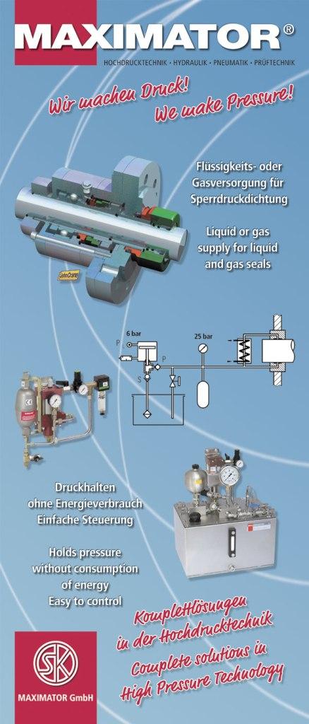 Flüssigkeits- oder Gasversorgung für Sperrdruckdichtung