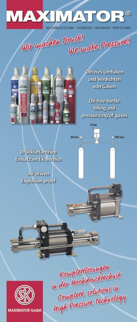 Ölfreies Umfüllen und Verdichten von Gasen